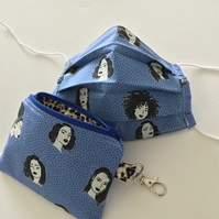 NOW REDUCED Face Covering and Matching Keyring Pouch