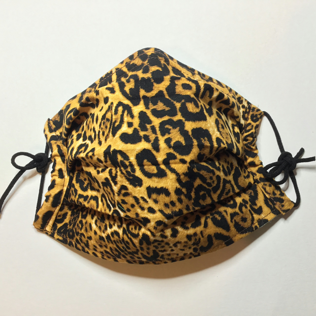 NOW 20% OFF WITH CODE BF20 Animal Print Pleated Face Covering