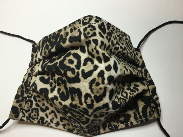 NOW WITH 25% OFF Animal Print 3 Layer Pleated Face Covering Mask