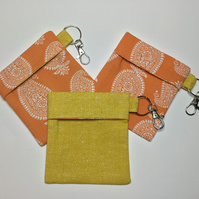 Face Covering Keyring Pouch