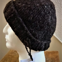 Handspun, Hand-knitted Hat in Pure Texel Wool