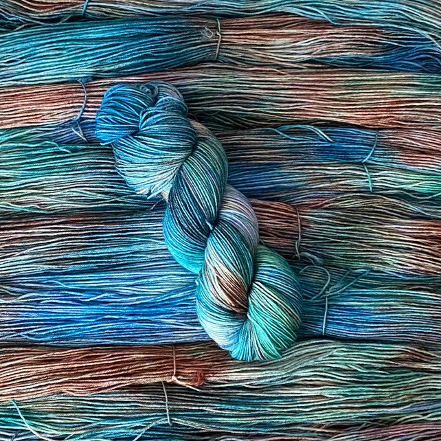 Hand Dyed Yarn: 4ply Merino Nylon - Harbour