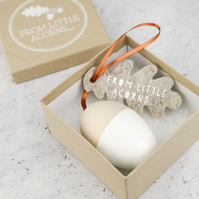From Little Acorns Personalised Christening Keepsake Gift