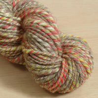 Circus Elephant - hand spun and dyed Shetland yarn, 100g, 80m, Worsted 3 ply