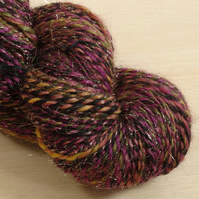 Ringmaster - hand spun Corriedale and Angelina yarn, 110g, 250m, DK 2 ply