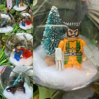 Superhero Baubles (Batman Superman Wolverine)