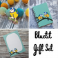 Bluetit Gift Set - Hard Enamel Pin, A6 Notebook and Gift Note