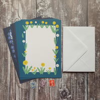 Dandelion and Forget-me-not Writing Paper Set