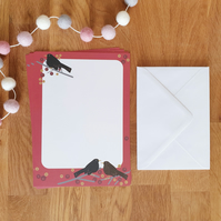 Blackbirds A5 Recycled Writing Paper Set