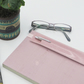 Pink Glitter Vinyl Planner Band Pen Holder