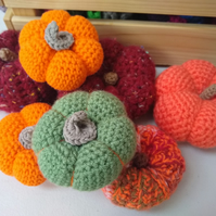 Halloween Pumpkin Ornaments, Crocheted Pumpkins, Halloween Decoration