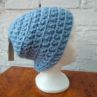 Baby Blue Crocheted Hat