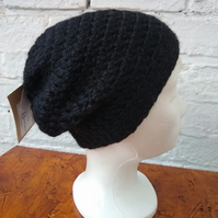 Black Alpaca & Wool Hat