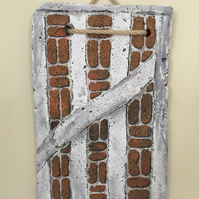 Clay Peg Tile Hand Painted. Brickwork.Beams