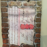 Clay Peg Tile Hand Painted  (Brickwork & Deed)