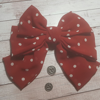 Dotty Red Hair bow clip