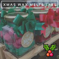 Cinnamon & Apple – 13 Piece Xmas Soy Wax Melt Heart Jars – 78g