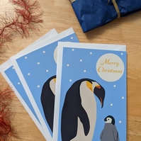 Penguin and Baby Christmas Card 3 Pack