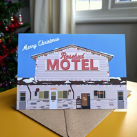 Schitt's Creek Rosebud Motel Christmas Card