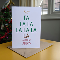 Schitt's Creek A Little Bit Alexis Christmas Card