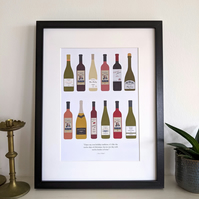 Schitt's Creek 12 Wines of Christmas A4 Print