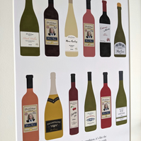 Schitt's Creek 12 Wines of Christmas A3 Print