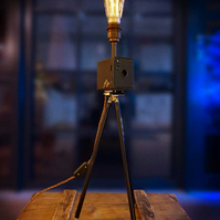 Upcycled Vintage 1917 Kodak Brownie Camera Desk Lamp