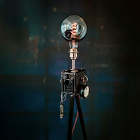 Upcycled Vintage 1940s Kodak Camera Tripod Lamp