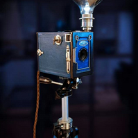 Upcycled Very Rare Vintage Duo-Ensign Camera Tripod Lamp
