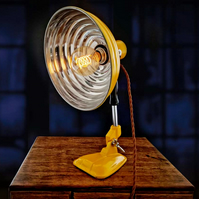 Upcycled Rare Vintage 1950s Pifco Heat Lamp Desk-Table Lamp