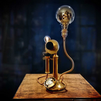 Upcycled Vintage Brass GEC Candlestick Telephone Lamp