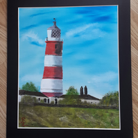 Original Lighthouse Oil Painting