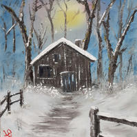 Winter Snow Fantasy Oilpainting