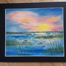 Nature Sunrise Oil Painting