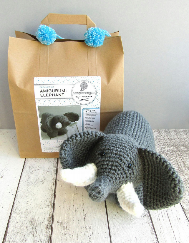 Crochet kit: Amigurumi Elephant.