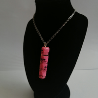 Pretty In Pink Skull Necklace