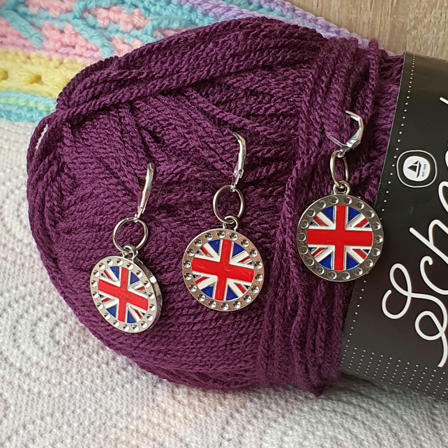 Union Jack Stitch markers