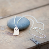 Happy Little Ghost Necklace