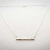 Sterling Silver Lined Bar Necklace