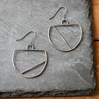 Oxidised Sterling Silver Statement Earrings