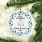 First Christmas at your new home Ornament, Red & Green Holly Wreath ornament