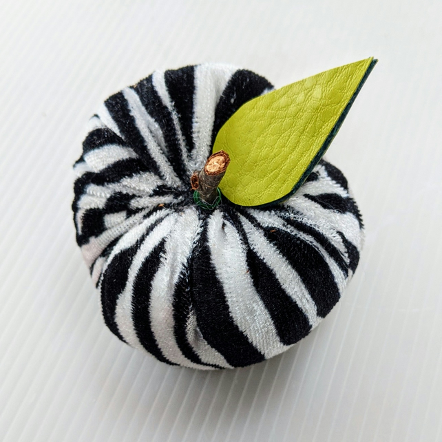 Handmade Zebra Print Ornamental Fabric Apple Decorations