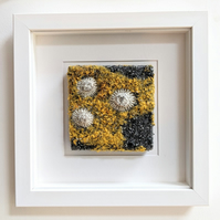 Saffron Yellow Coastal inspired Textile Art