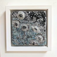 Sea-foam Coastal inspired Textile Art