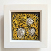 Saffron Yellow Coastal inspired Textile Mini Art