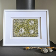 Coastal inspired Textile Art in Soft Green