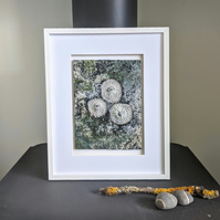 Coastal inspired Textile Art in Green