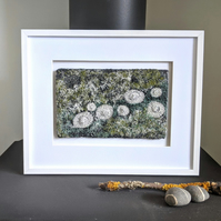 Coastal inspired Textile Art in Dark Green