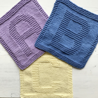 Personalised Eco Friendly Reusable 100% SupaSoft Cotton Wash Cloth Letter Number