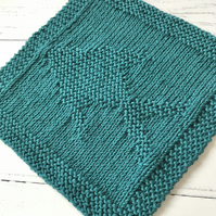 Eco Friendly Reusable Knitted 100% Recycled Cotton Wash Dish Cloth Fish Green